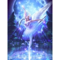 diamond art painting ballet dancing on water embroidery kit 5d diy square round cross stitch home decoration