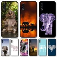 beauty elephant phone case for samsung galaxy a 12 51 52 21 71 70 42 32 10 80 90 e 5g s black shell art cell cover
