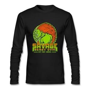 Street Fashion Beast T Shirt Custom Long Sleeve Men's Clothes New Rock Cotton Crewneck Funny Tee Shirts Simply Fashion Clothes