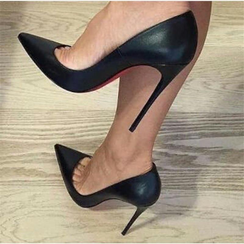 حذاء نسائي بكعب عالٍ من الجلد الصناعي ، حذاء زفاف أسود من الجلد الصناعي ، fgb7