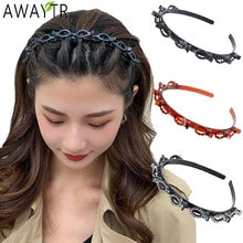 AWAYTR Unisex Alice Hairband Headband Men Women Sports Hair Band Hoop Metal Hoop Double Bangs Hairst