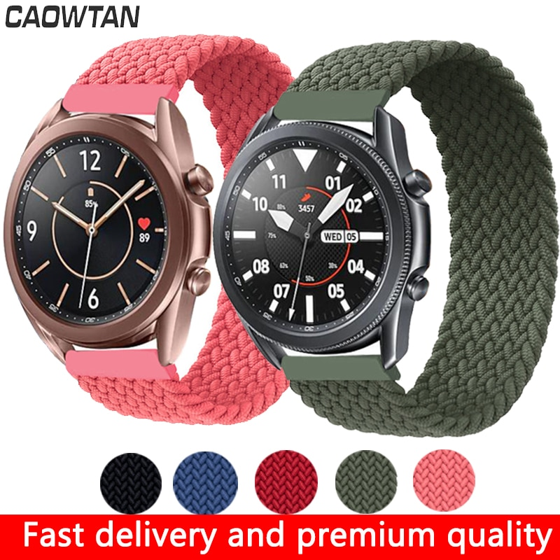 AliExpress - 22mm 20mm Solo loop Watch Band Strap For Samsung Galaxy 3 Watch 42 46mm GEAR S3 Active2 Classic quick release nylon braided band
