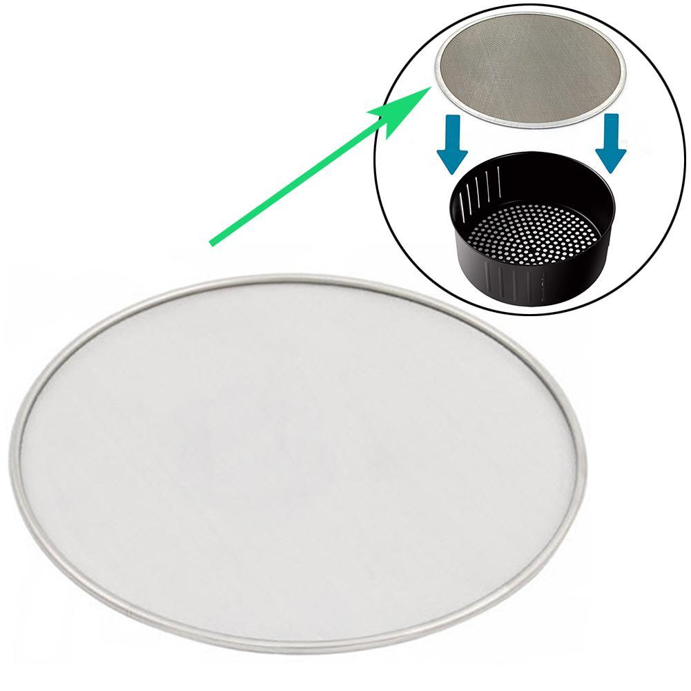 19/21/23/25cm Air Fryer Accessories Stainless Steel Oil Splatter Screen Anti Grease Splash Scald Proof Frying Pan Cover