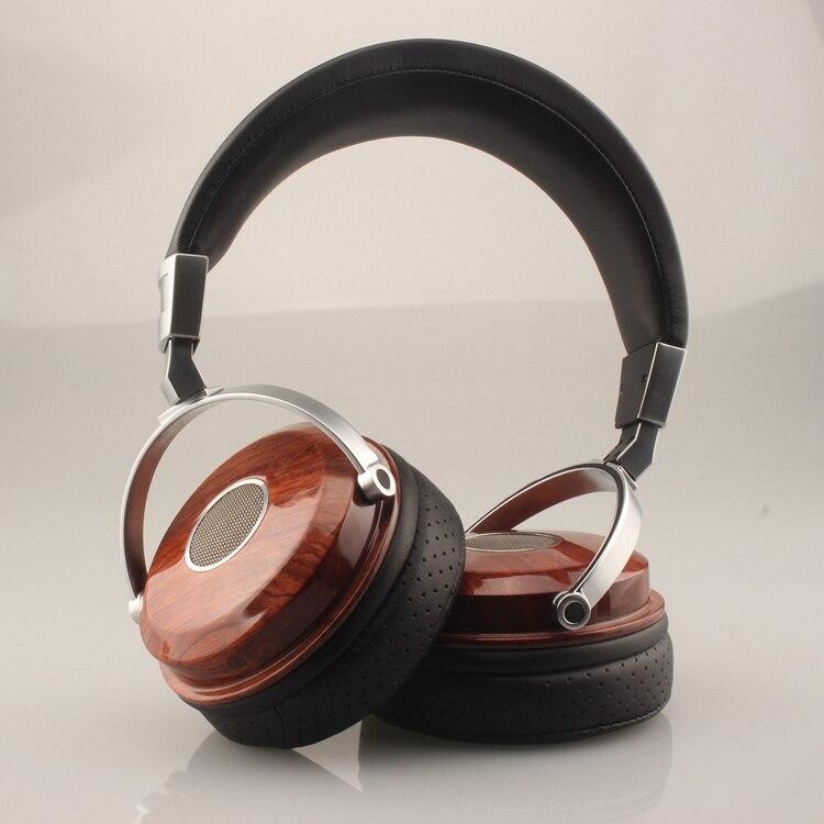 Nogueira de madeira de alta fidelidade fone de ouvido sobre a orelha liga driver metal monitor madeira fone de ouvido fone de ouvido fone de ouvido