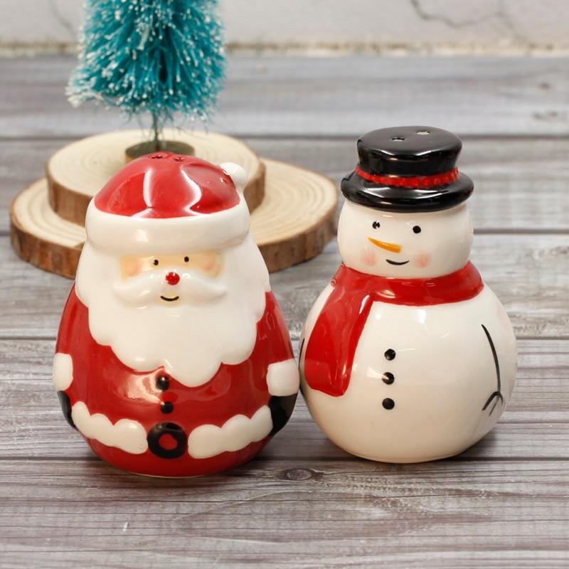 عيد ميلاد سعيد-برطمانات المطبخ للتوابل ، حاوية توابل السيراميك ، أدوات المطبخ ، مجموعة تزيين الطاولة