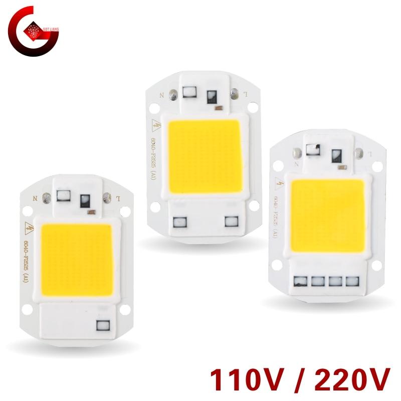 LED Chip 10W 20W 30W 50W 220V 110V COB Lamp Beads Smart IC No Need Driver LED Bulb for Flood Light S