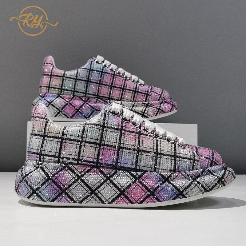 RY-RELAA أحذية نسائية أوروبية جلد طبيعي منصة أحذية رياضية 2021 صيف جديد للنساء أحذية رياضية vans ins حذاء أبيض