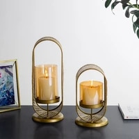 nodic crystal candle lantern gold candle holders wedding centerpieces center dining table candlesticks parties home party decor