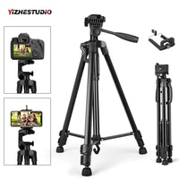 Yizhestudio Camera Tripod 50-140cm DSLR Flexible Portable Stand for Gopro iPhone Canon Nikon Sony with Phone Clip with 1 4 Screw
