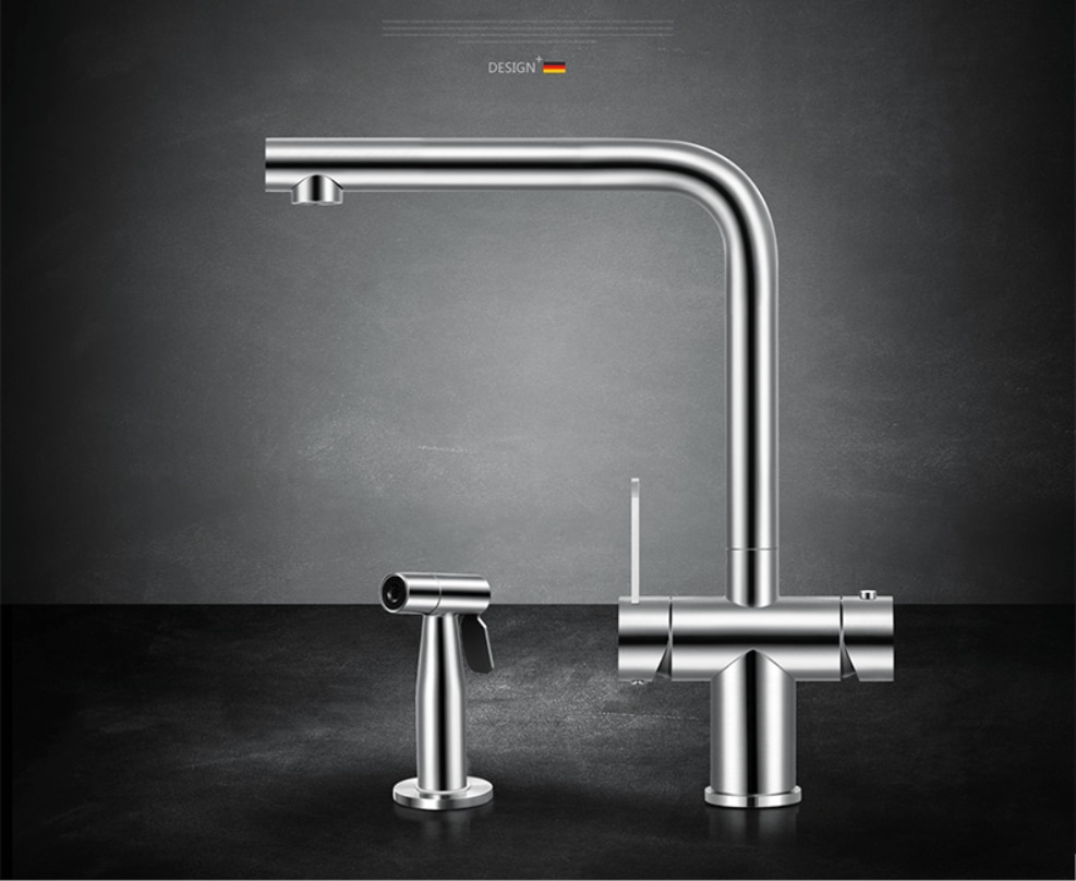 ASRAS -3064 304 stainless steel faucet cold and hot water tap 3-in-1 with pull out sprayer
