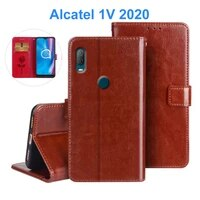 for alcatel 1v 2020 %d1%87%d0%b5%d1%85%d0%be%d0%bb phone case 5007u 5007a pu leather flip case stand capa for alcatel 1v 2020 funda protect wallet cover