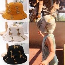 Summer Baby Boys Girls Toddler Cartoon Animal Print Bucket Hats Caps Reversible Sun Headwear