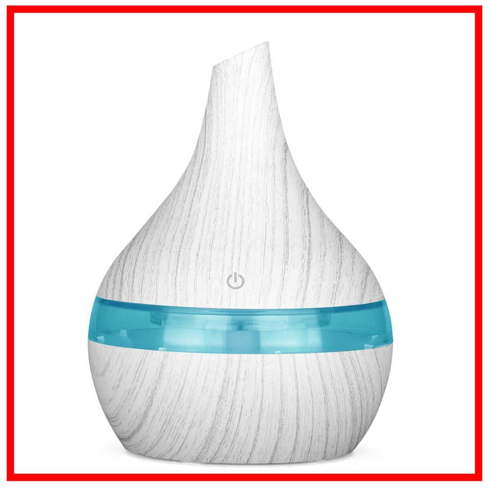 300 мл USB увлажнитель воздуха из белого дерева ароматерапия 7 цветов светодиодный