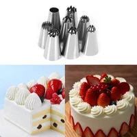 8pcs stainless steel cakes decoration set cookies supplies russian icing piping pastry nozzle kitchen gadgets fondant decoration