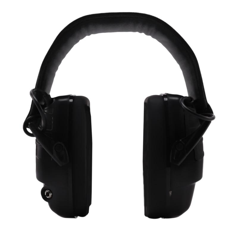 سماعات الأذن الإلكترونية NRR 25DB حماية إلكترونيات الصيد يفشل الأذن (أسود)