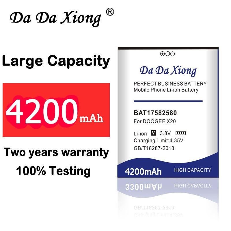 Nuevo Da Xiong 4200mAh Original BAT17582580 batería de 5,0 pulgadas para la batería del teléfono móvil Doogee X20 X20L