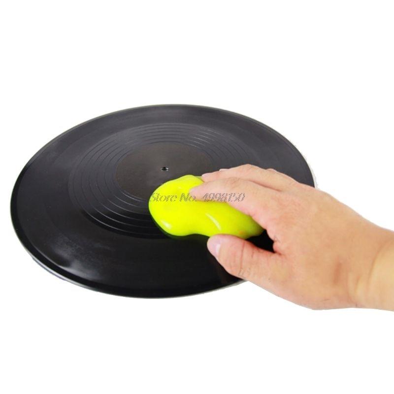 En gros livraison directe magique poussière nettoyant LP vinyle platine disque cartouche de nettoyage en caoutchouc souple Gel visqueux