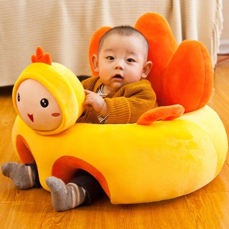 Cartoon Animal Baby Seat Sofa Infants Learning Sitting Chair Comfort Plush Support Pillow Cushion Newborn Gifts