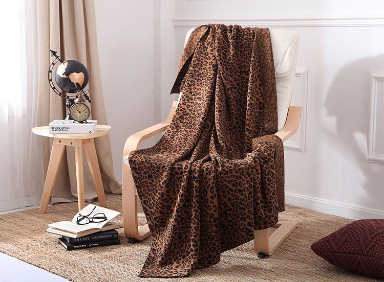 الحياكة ليوبارد اللون لحاف تكييف الهواء لحاف مبطن بطانية للأطفال أريكة رمي