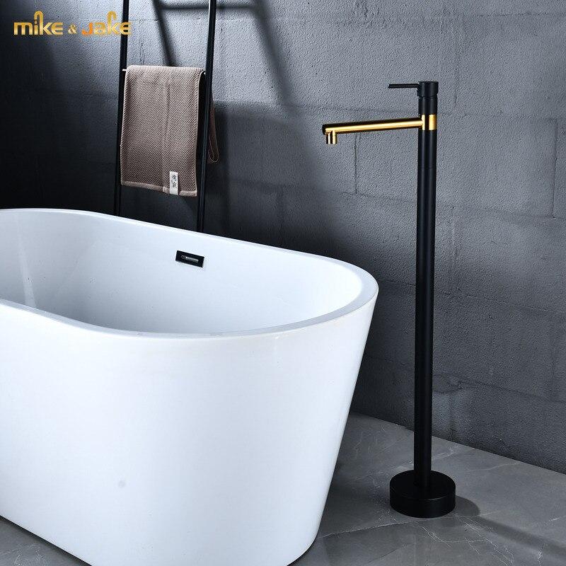 الحمام الطابق حامل الحنفية الطابق حامل حوض صنبور الذهب الأسود الساخن cold طويل القامة الحنفية الطابق الحمام صنبور الأسود خلاط حوض الاستحمام