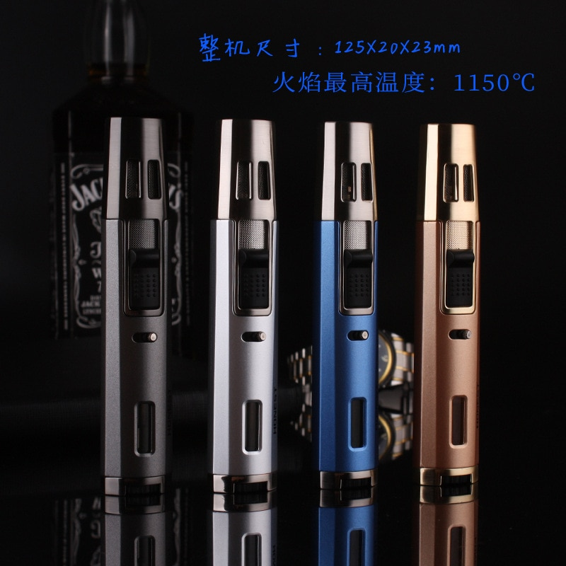 Pen Style Jet Two Torch Turbo Lighters Cigar Cigarettes Accessories Electronic Gas Lighter Smoking Lighters enlarge