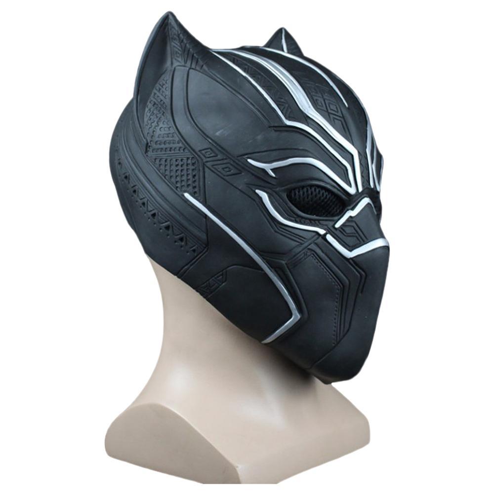 Entrega rápida capitão américa guerra civil pantera negra cosplay máscara facial cosplay capacete traje halloween carnaval adereços