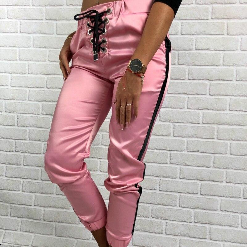 女性足首までの長さのズボン 2019 秋のファッション白のストライプ OL カジュアル Lac アップファッションスリム快適なパンツ
