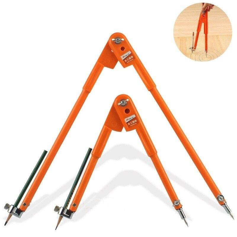 Marcação e Scribing Diâmetro Carpenter Precisão Lápis Compasso Divisor Ajustável Compass Carpintaria Max 45 – 75cm