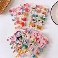 10 pcsset children beautiful colorful cute cartoon fruit animal duckbill clip sweet girl princess barrettes hair accessories