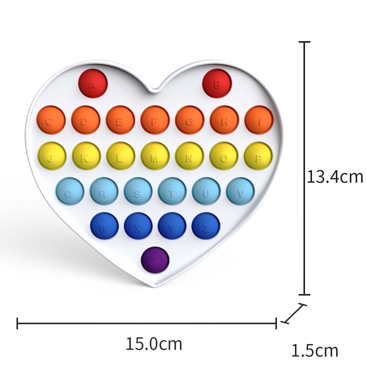 New Rainbow Push Pops Fidget Sensory Toy for Autism Special Needs Antistress Game Stress Relief Squishy Popit Fidget Toys enlarge