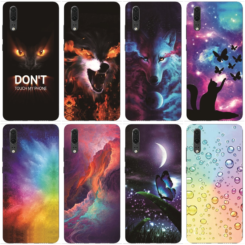 Case for Huawei P20 Cases Silicon TPU Soft Back Cover Phone Case Coque Bumper