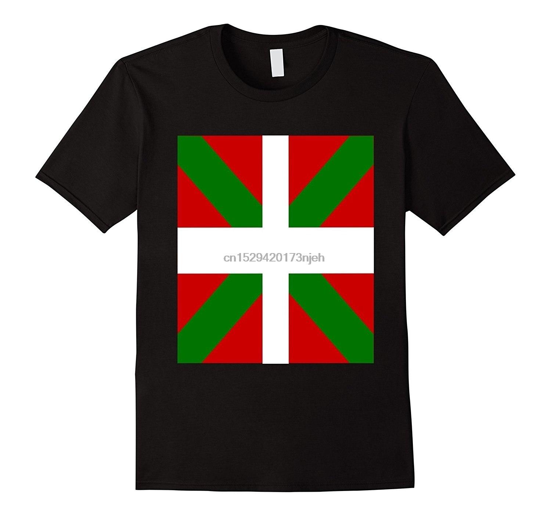 Männer Mode T Hemd Basken Flagge T Shirt Bilbao Vasconia Pais Vasco Graphic Tee