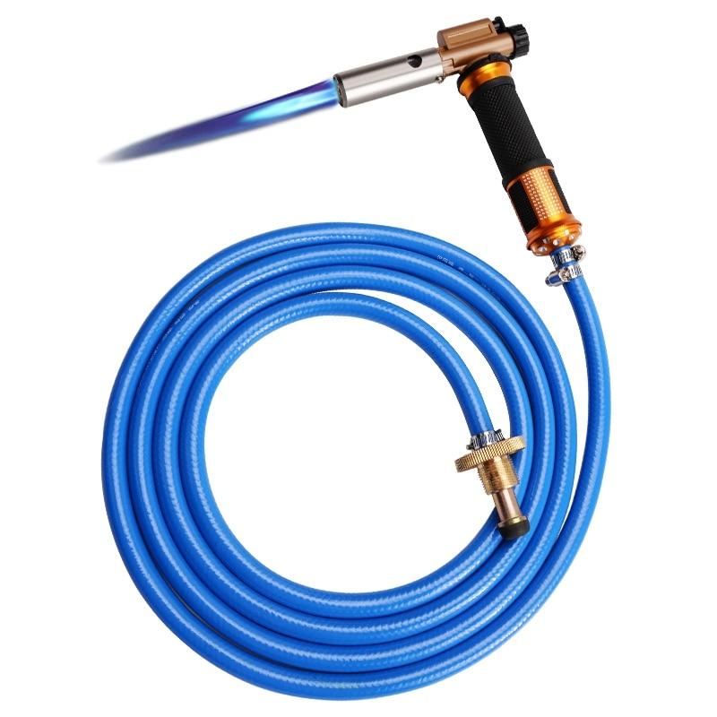 HHO-сварочный фонарь для сжиженного газа с электронным зажиганием, комплект со шлангом 3 м для пайки, жарки, нагревания