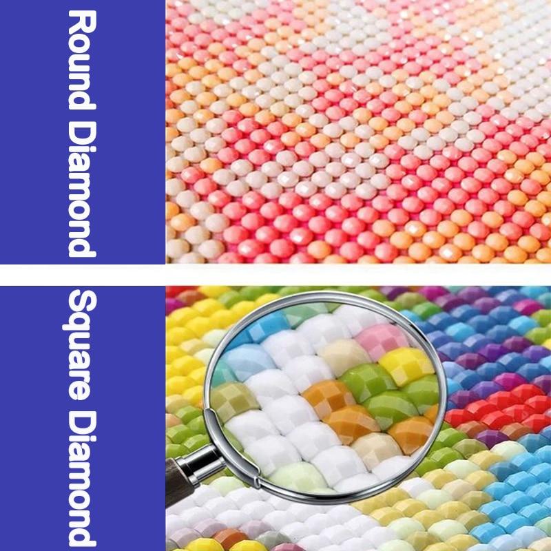 5D DIY Diamond Painting Full Square Round Rhinestone Embroidery Handmade Mosaic Art Flower Cup Kit Cross Stitch Home Wall Decor