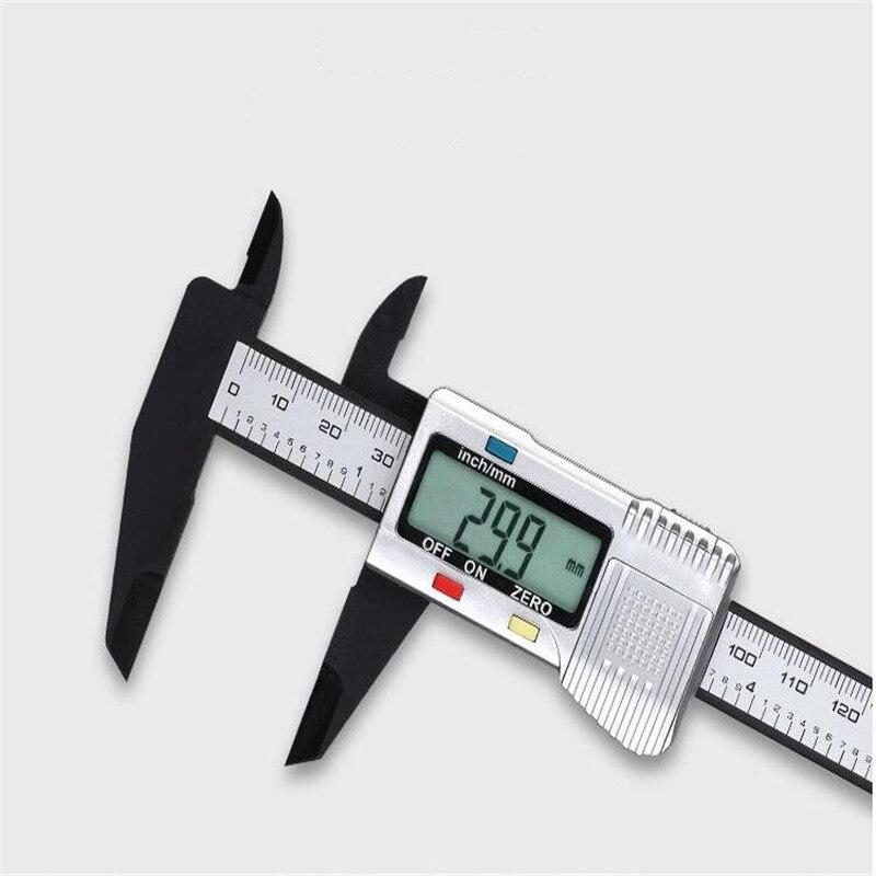 Pinza de plástico digital de fibra de carbono de 150mm, batería de litio de 3V jr64, con/sin varilla de medición