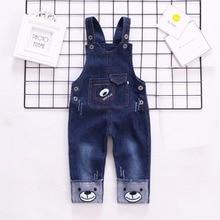 IENENS Infant Boy's Jeans Overalls Baby Cartoon Dungarees Toddler Long Pants Kids Boy Denim Jumpsuit Clothes Clothing Trousers
