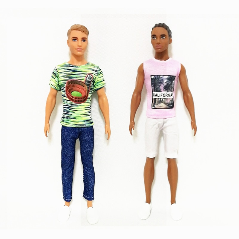 Ken The Boy Friend Casual Fashion Clothes Set for Barbie BJD Doll Clothes Accessories Play House Dressing Up Kids Toys 5 sets fashion casual wear doll clothes tops t shirt jacket pants outfits accessories for barbie boy friend ken dolls cloth toys