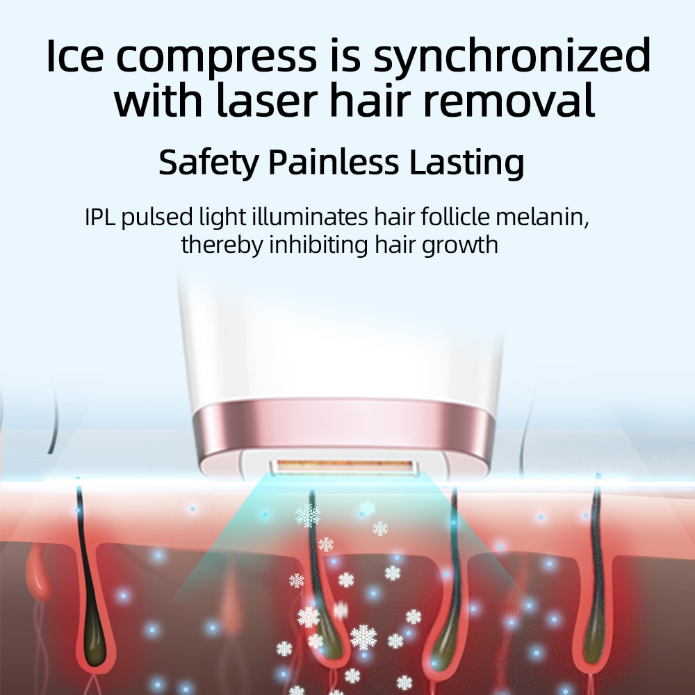 MLAY Laser Hair Removal Device IPL Laser Epilator Ice Cooling Depilador Permanent Hair Removal Machine For Face Body Bikini enlarge