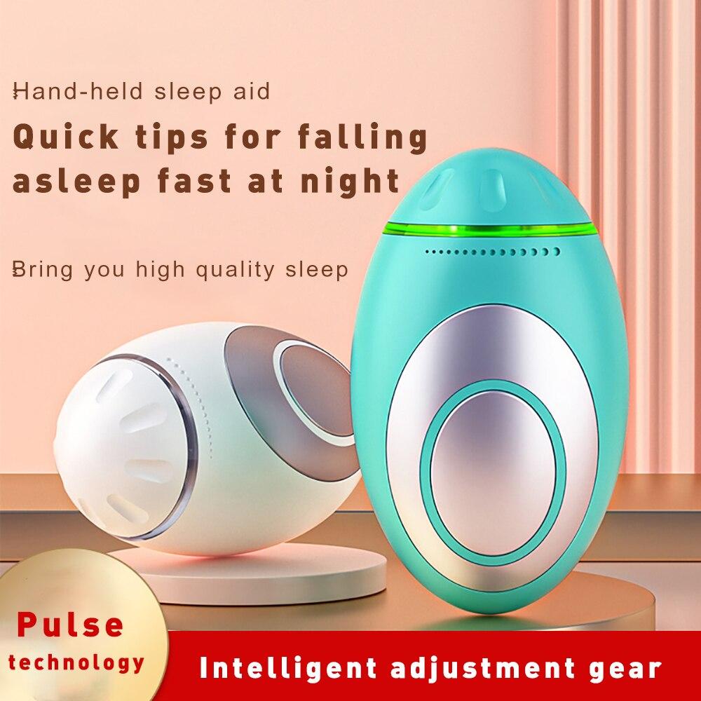 Уход за сном ручной захват микротоковая импульсная стимуляция гипноз аппарат для сна облегчение умственного устранения тревоги засыпание
