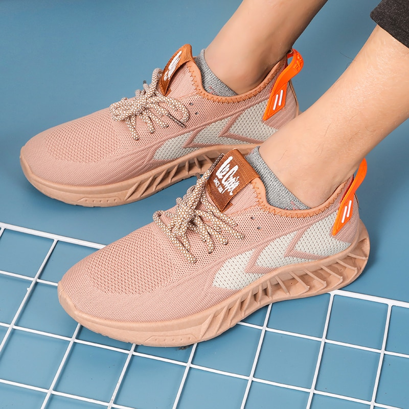 Men Casual Breathable Sport Hoes Fashion Wholesale Price Knitted Running High Quality Summer Air Cushion Hike Sneakers