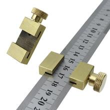 Ligne dangle règle de Scriber bloc de positionnement règle en acier jauge de marquage pour règle localisateur Scriber bois outils de mesure