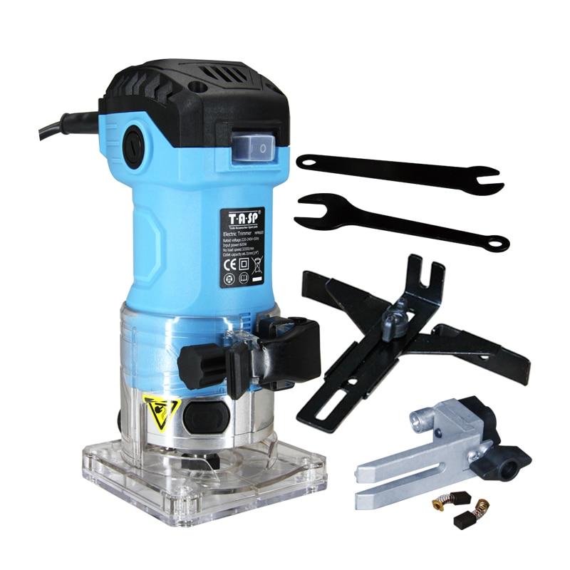 ماكينة تشذيب الحواف الكهربائية 230 فولت 600 وات ، جهاز توجيه خشبي محمول باليد ، كوليت 6.35 مللي متر ، أدوات طحن لأعمال النجارة المنزلية