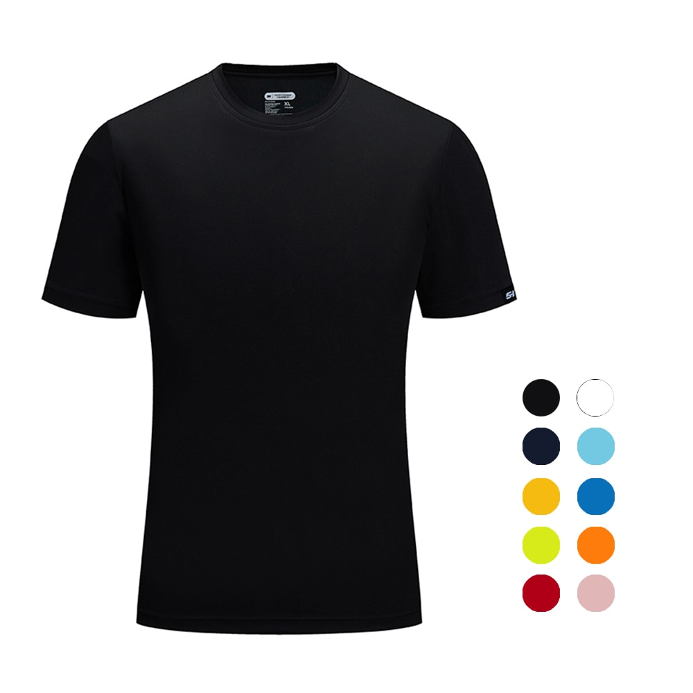 Brand SANHENG Men Summer Casual Outdoor T-Shirt Men Sports T-Shirt Plus Size Sport Fast-Dry Breathable Tops