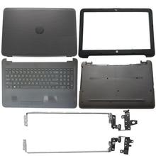Nouvelle couverture arrière LCD pour ordinateur portable/lunette avant/charnières/repose-pied/boîtier inférieur pour HP 15-AY 15-BA 15-BD série 859511-001 noir 855027-001