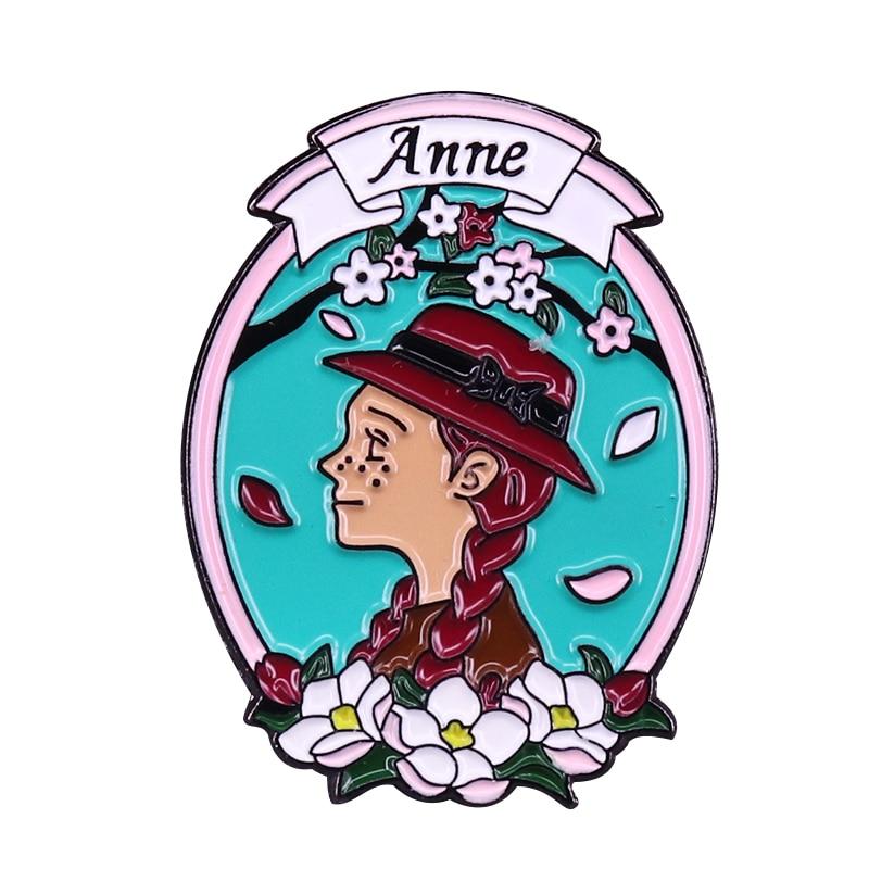 De Anne of Green Gables broche bastante la heroína L M Montgomery biblioteca espíritus regalo