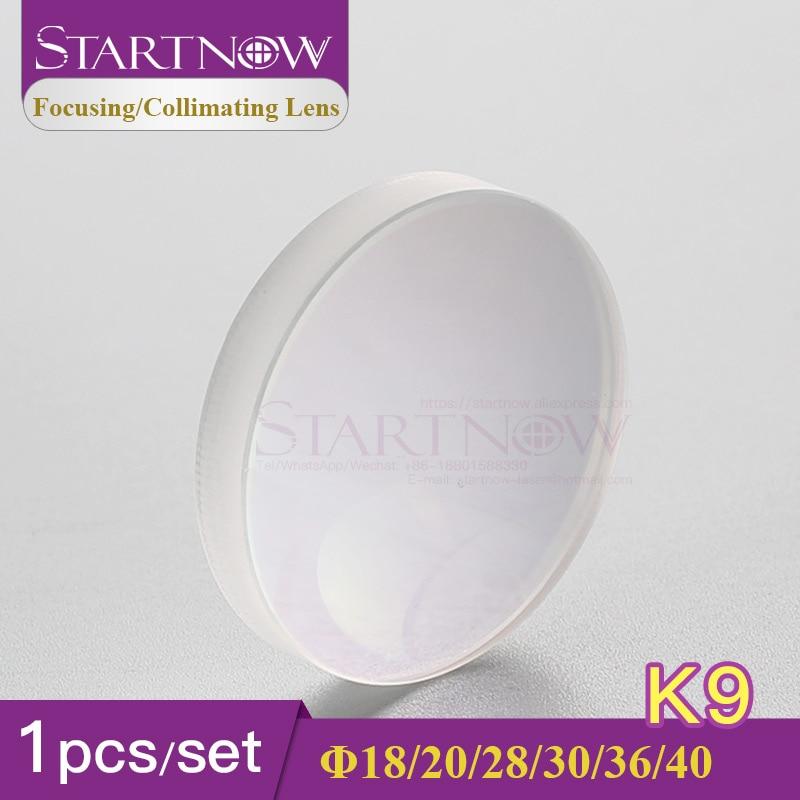 Startnow 1pc Glass K9 Fiber Laser Focus Collimator Lens 25.4 D28 30 36mm F200 Concave Convex 1064nm For Welding Equipment Parts