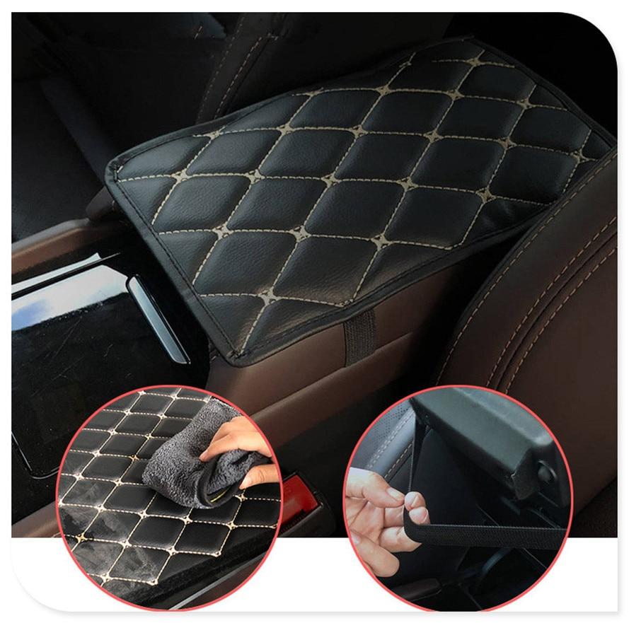 Coche alfombrilla para reposabrazos Reposabrazos de coche esteras cojín cubierta almohadilla para Peugeot 206, 307, 406, 407, 207, 208, 308, 508, 2008, 3008, 4008