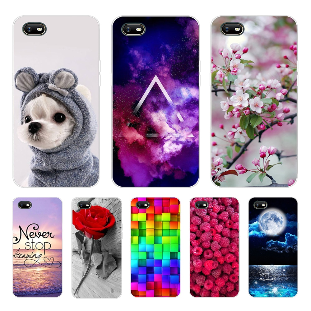 For OPPO A1K Case Silicone Flower Soft Phone Cases For OPPO A1K CPH1923 Case TPU Bumper for OPPO A1K