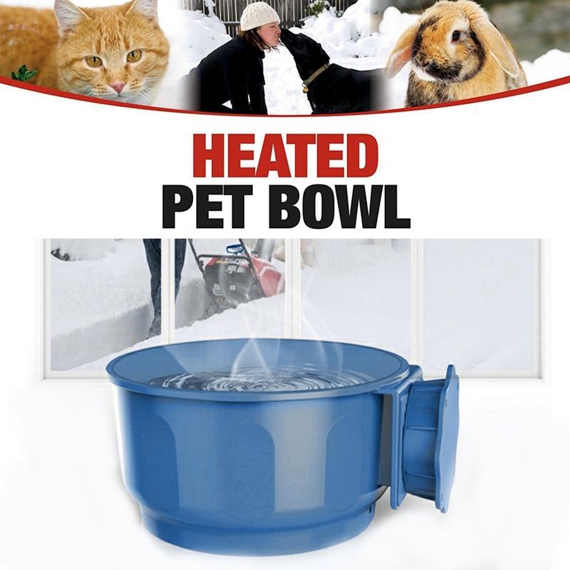 Gato do animal de estimação e cão tigela de aquecimento gato cão placa de comida inteligente controle temperatura constante pendurado isolamento tigela de água