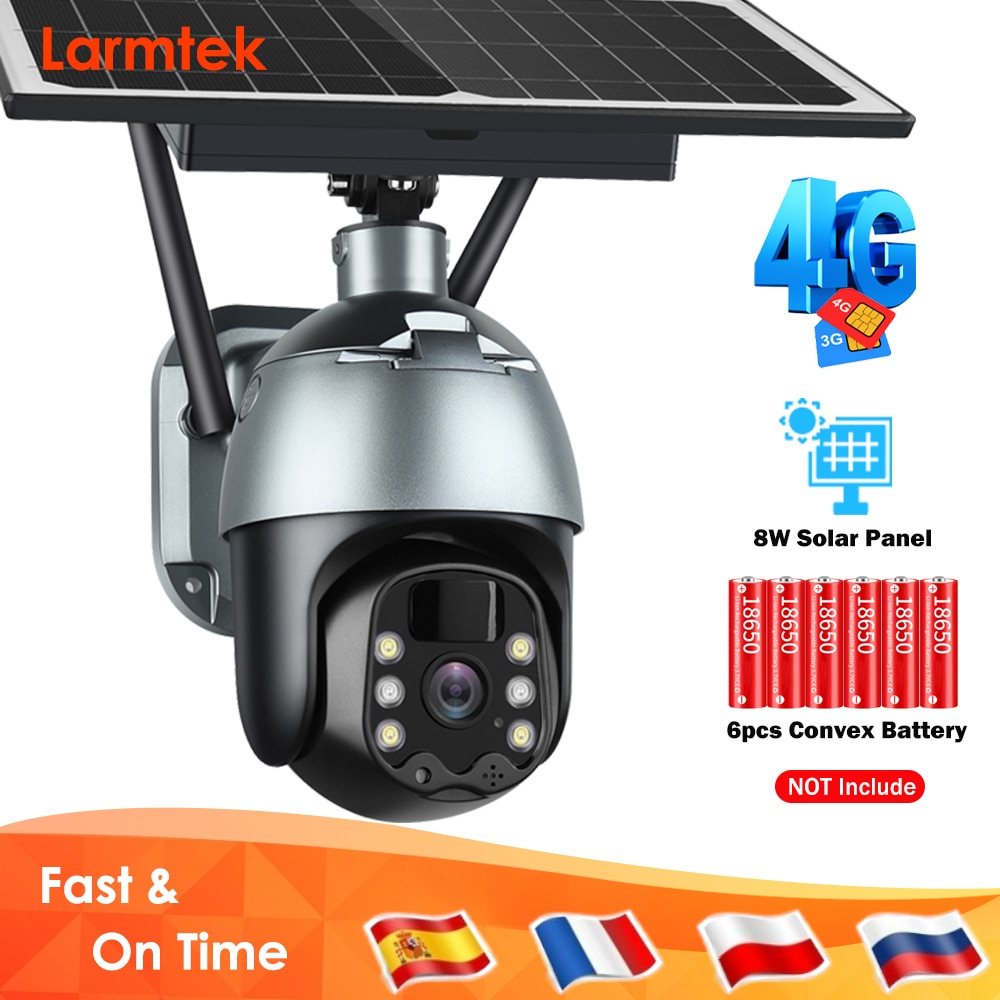 4G Solar IP Camera WiFi 1080P CCTV Video Surveillance Camera Outdoor PTZ Battery Security Camera Waterproof Color Night Vision